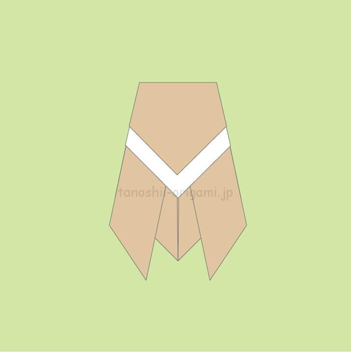 ミンミンゼミ風の折り紙のセミの完成