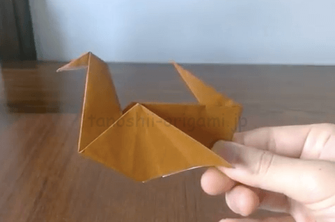 折り紙のかもの折り方