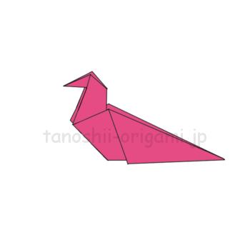 折り紙のきじの完成