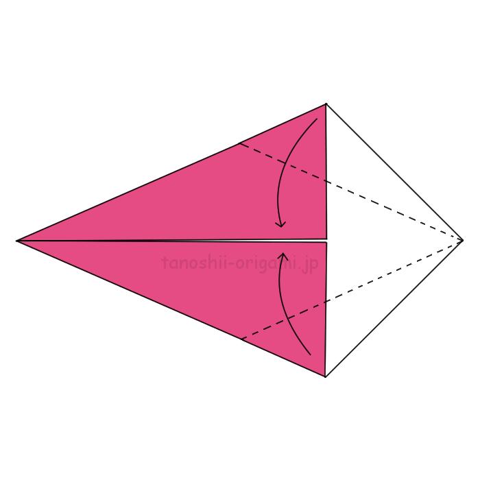 折り紙のきじの折り方