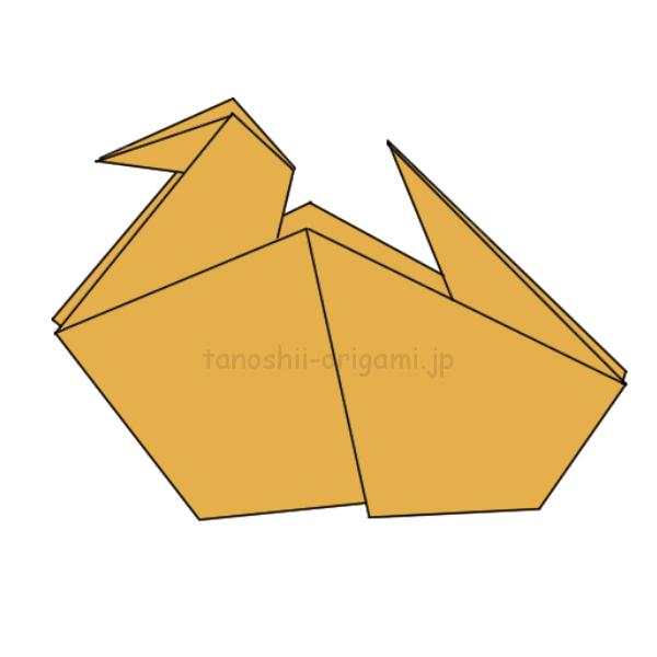 折り紙のアヒルの作り方