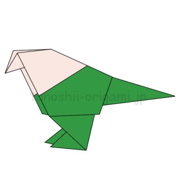 折り紙の小鳥の完成