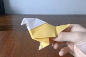 折り紙の小鳥完成