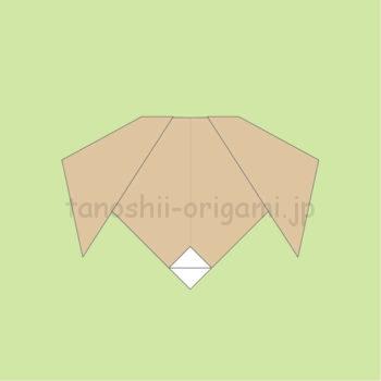 折り紙の犬の完成