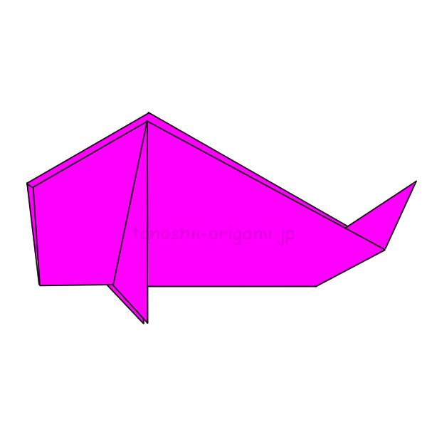 折り紙の鯉のぼりの完成