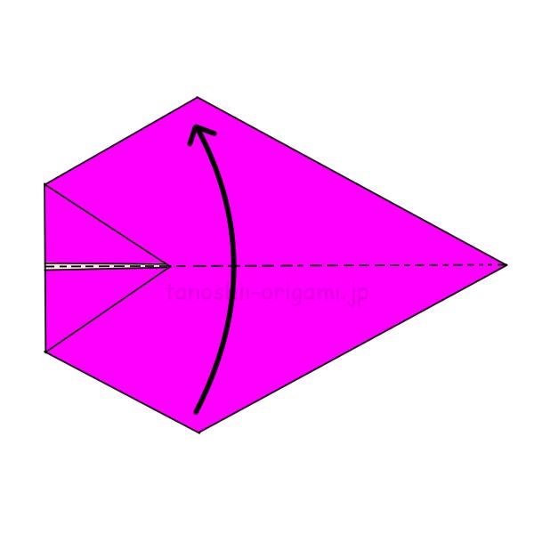 折り紙を半分に折る