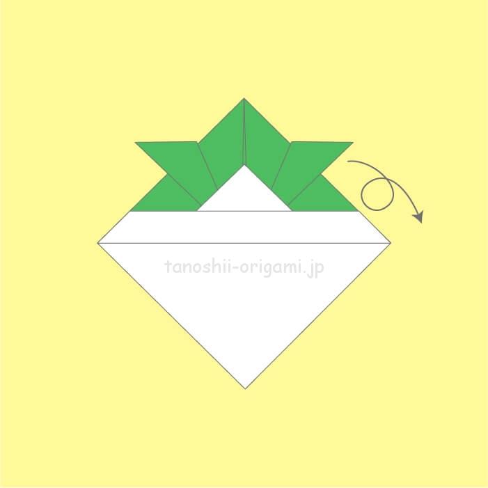 折り紙を裏返す-2