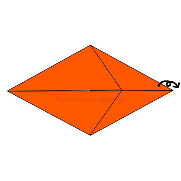 折り紙を裏返す-