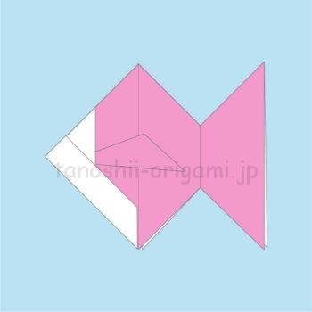 18_折り紙の金魚の完成