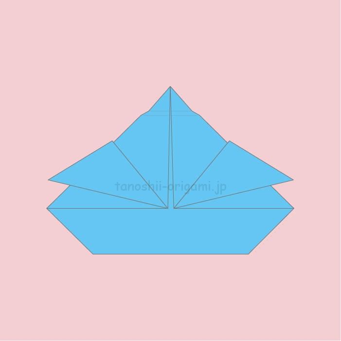 7.折り紙のおりびなの完成