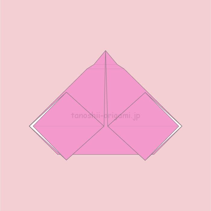 8.折り紙のおひなさまの完成