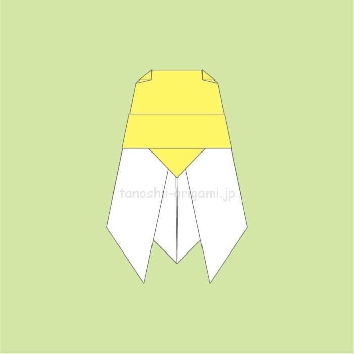 8_ミンミンゼミ風のセミの折り紙が完成