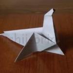 折り紙あざらしの折り方