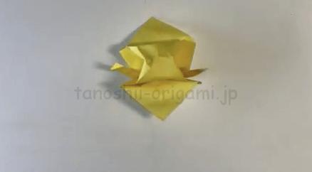 折り紙のふくら雀(ふくらすずめ)の折り方