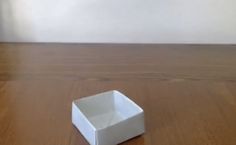折り紙の四角形の箱