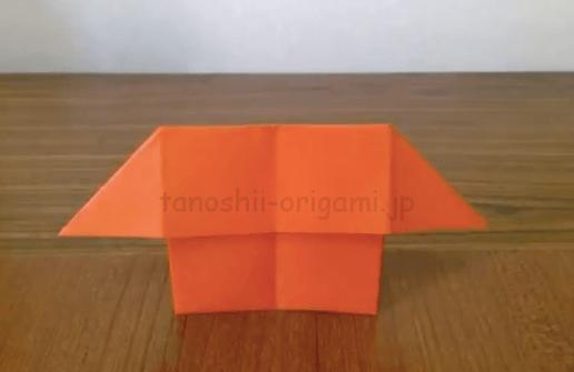 折り紙の家(おうち)が完成(2-10)