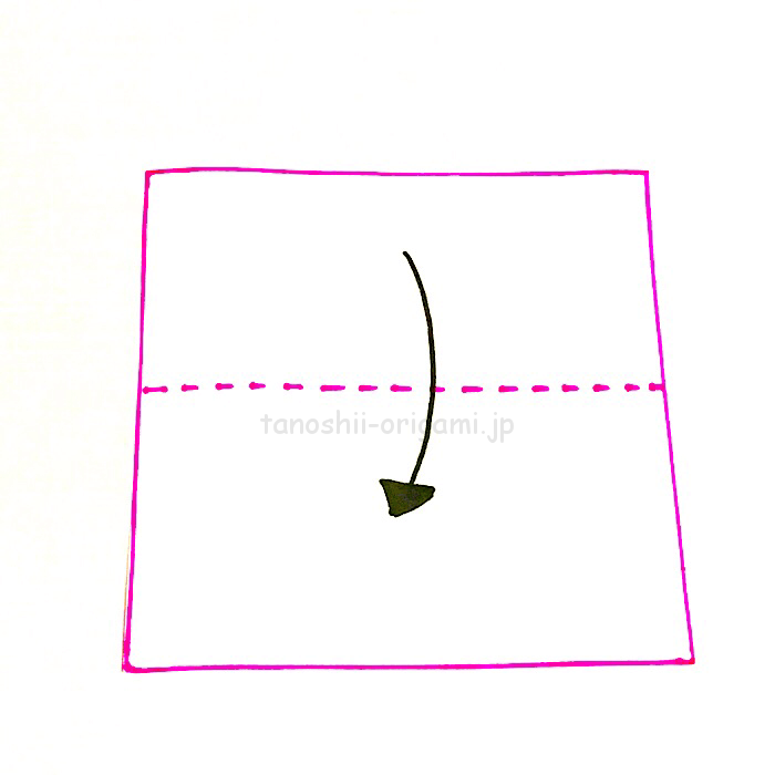 1.折り紙を半分に折る-2