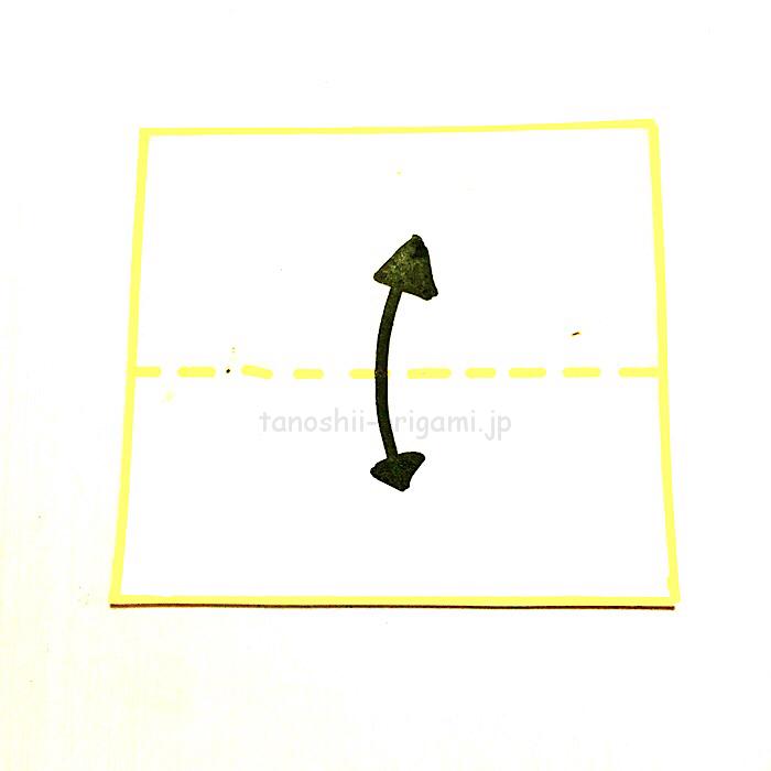 1.折り紙を半分に折る-3