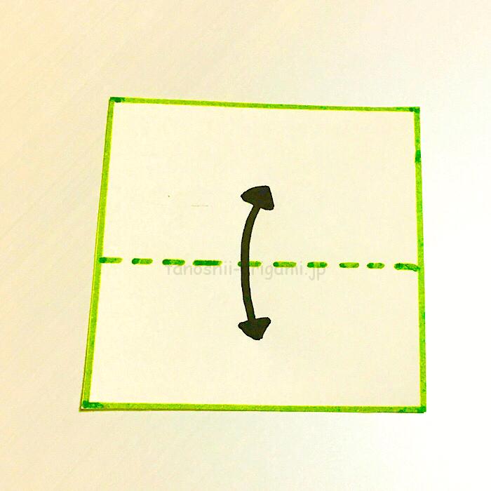 1.折り紙を半分に折る-4