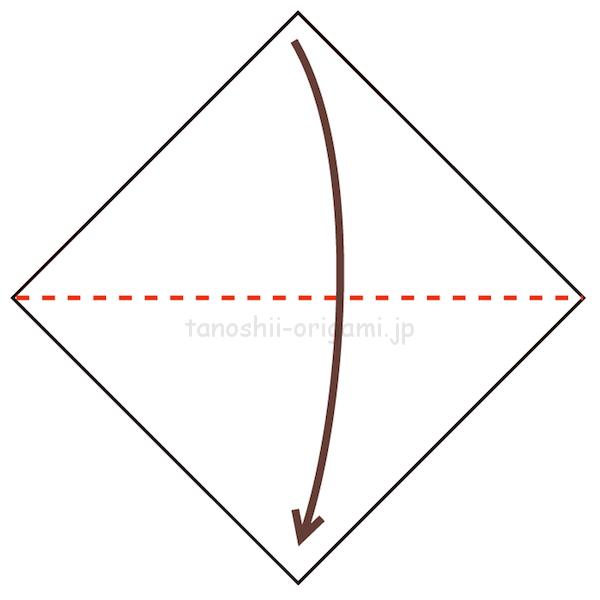 1.折り紙を半分に折る-6-2-2