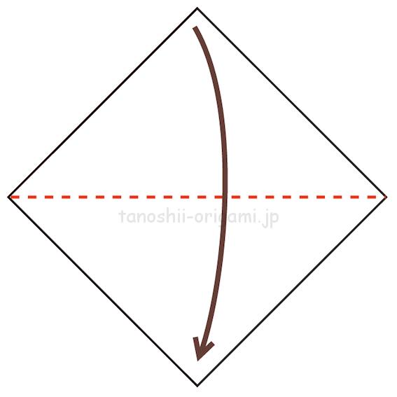 1.折り紙を半分に折る-6-3