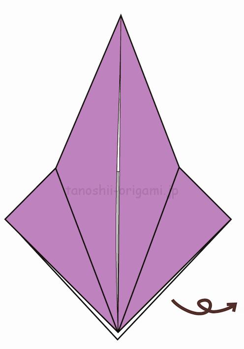 10.折り紙を裏返す-2