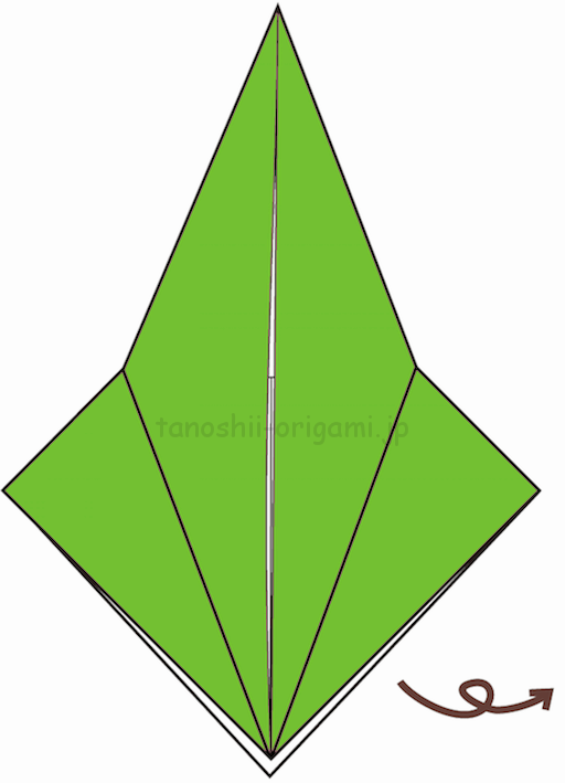 10.折り紙を裏返す-3