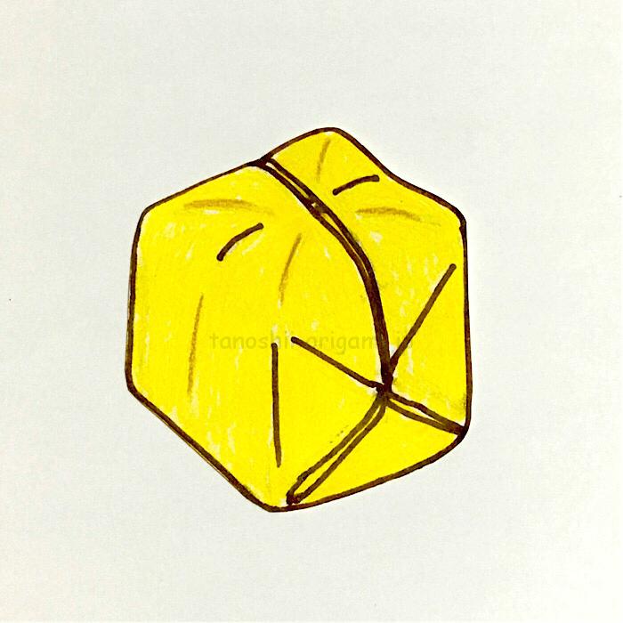 12.折り紙の風船の完成