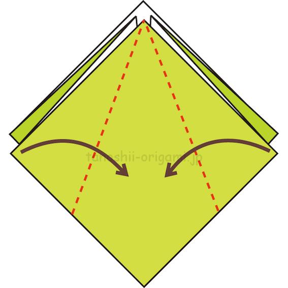 12.真ん中に合わせて折る-4-2