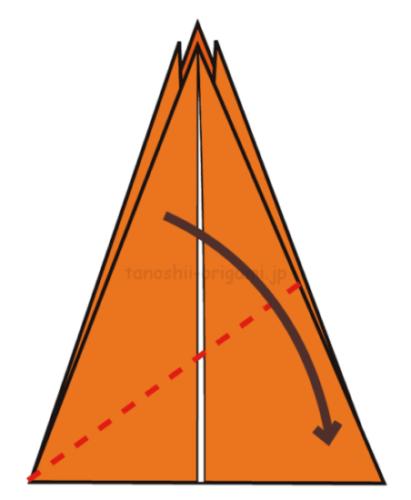 14.斜め下に折る-2