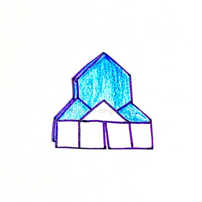16.折り紙の家が完成!