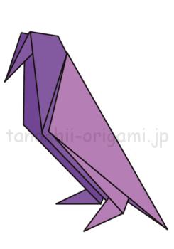 17.折り紙のからすの完成