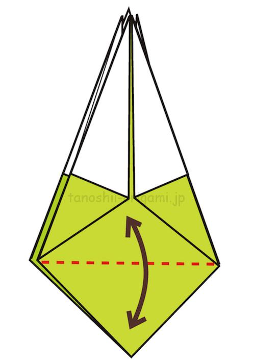 18.下の部分に折り線をつける-3-2