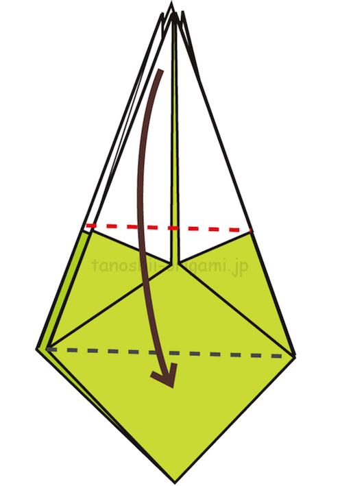 19.上の部分を下に向けて折る-3-2