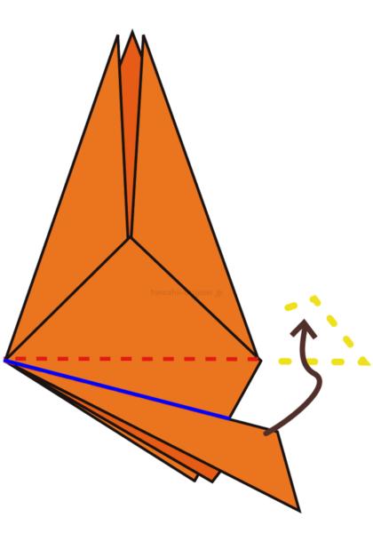 19.青い線で山折する