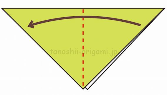 2.さらに折り紙を半分に折る-2-2