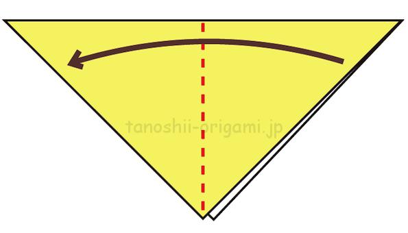 2.さらに折り紙を半分に折る-4