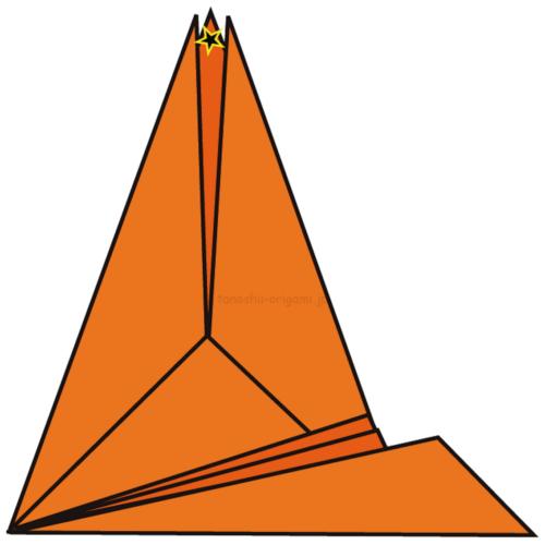 20.反対側も14〜19と同じように折る