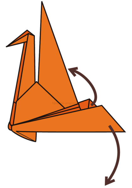 23.ジャバラに折った羽の部分を広げる