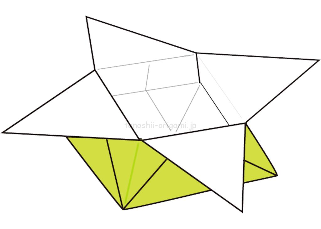 23.折り紙のつのこうばこの完成