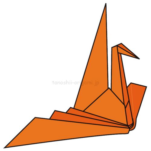 24.折り紙のおりはづるの完成