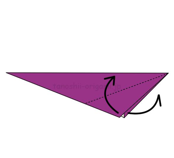3.尻尾になるところを折る-2