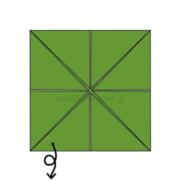 3.折り紙を裏返す-2