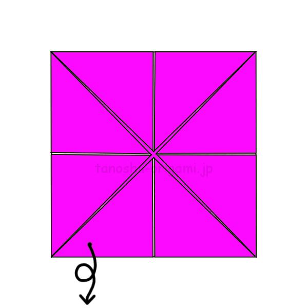 3.折り紙を裏返す-3