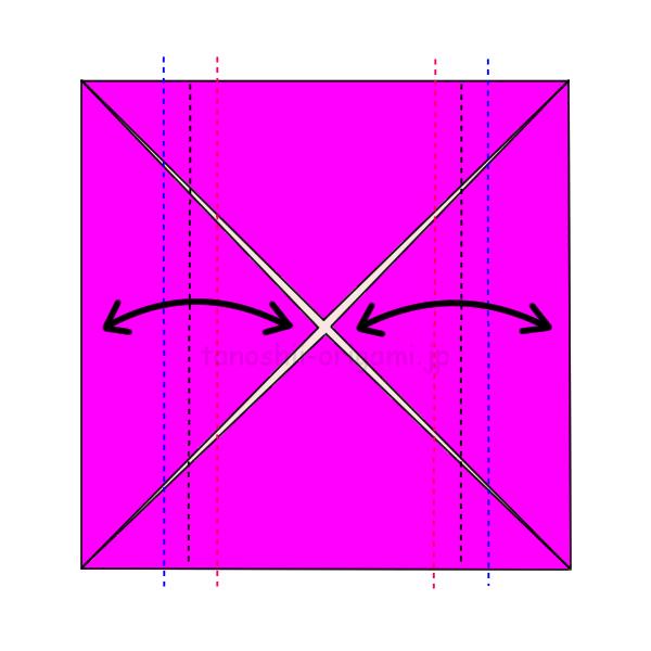 3.折り線をつける