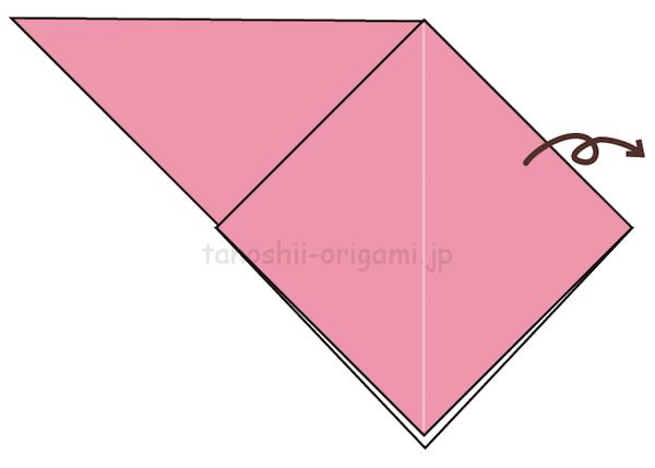 4.折り紙を裏返す