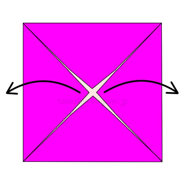 4.横の2箇所を開く