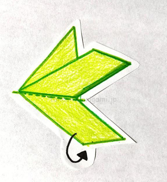 5.反対側も同じように折る