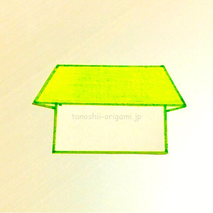6.折り紙のいえが完成