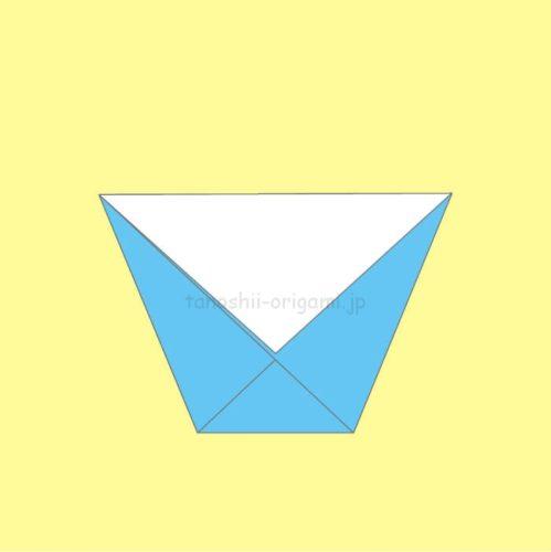 6.折り紙の紙コップの完成